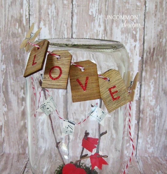 valentine mason jar craft tags