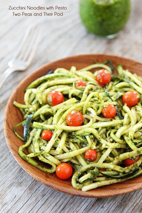 Zucchini Noodles with Pesto Recipe