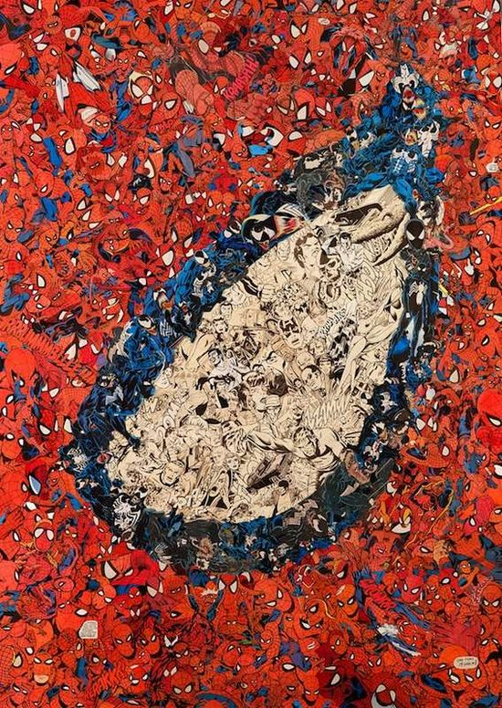 Mr. Garcin's Spider Eye Poster is Incredibly Intricate #superhero #art trendhunter.com