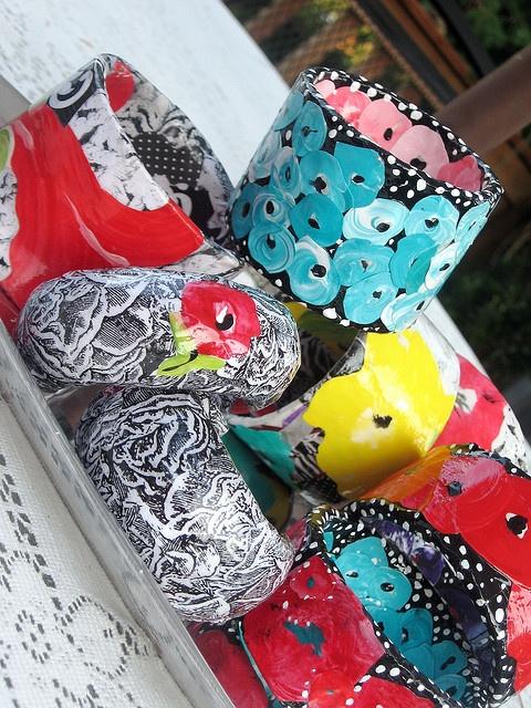 paper mache bracelets