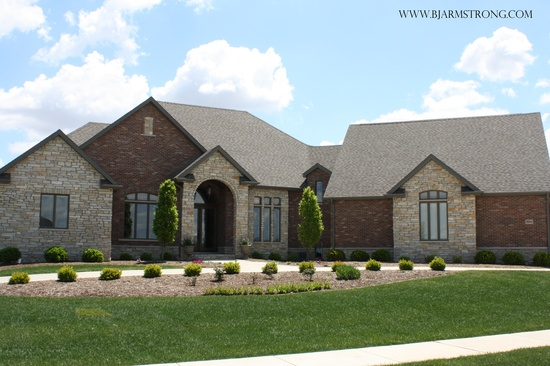 Brick and Stone Home Exterior
