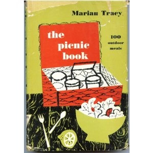 The Picnic Book: 100 Outdoor Meals by Marian Coward Tracy. this 1957 cook book describes different types of picnics, grocery lists and recipe. From picnics for the terrace and patio to picnics for the car or boat, Marian Tracy describes in detail how best to create menus and prepare meals. The book features some very cute mid-century illustrations by Helen Borten.