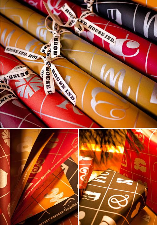 ? Celebrate - Gifting / Paper Pleasure / French Paper - Photo Lettering Gift Wrap!