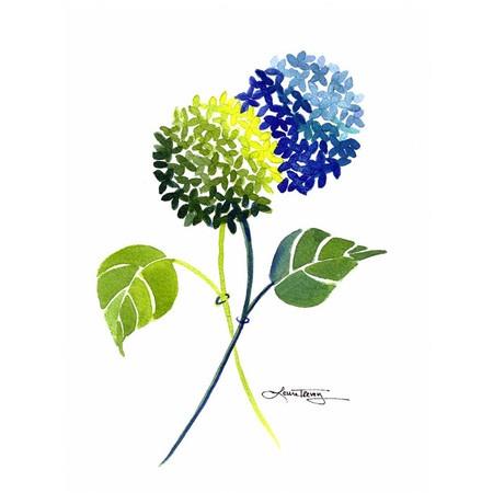 Blue & Green Hydrangea Wall Art