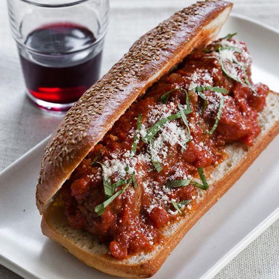 Slow Cooker Meatballs in Tomato Sauce // More Meatball Recipes: www.foodandwine.c... #foodandwine