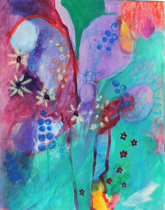 Modern Abstract Painting Contemporary Art by kerriblackmanfineart, $65.00