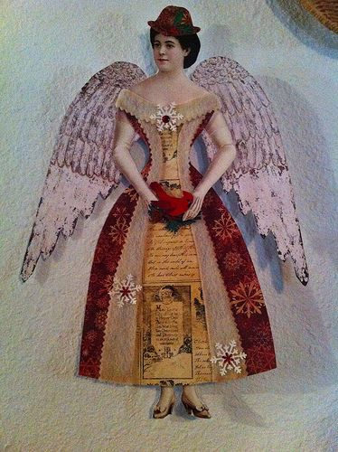 Victorian christmas paper doll