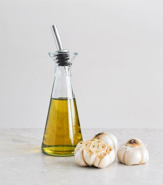 homemade roasted garlic oil.