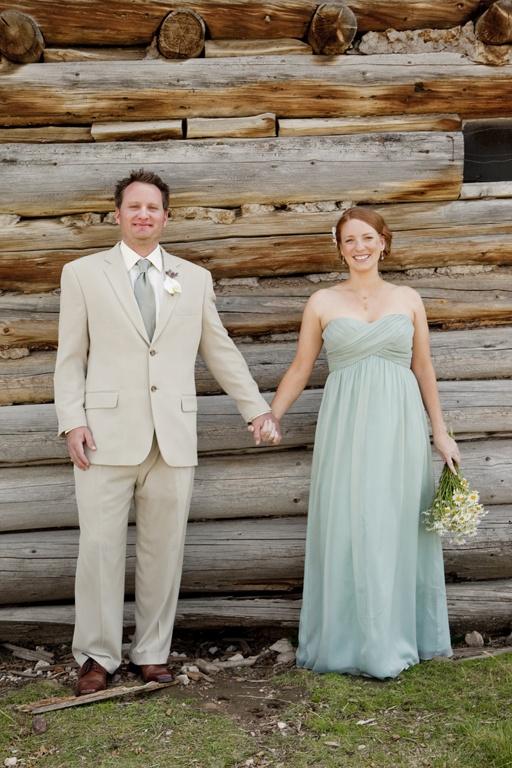 pretty mint wedding dress