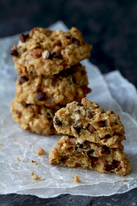 Pumpkin Chocolate Chip Oatmeal Cookies.