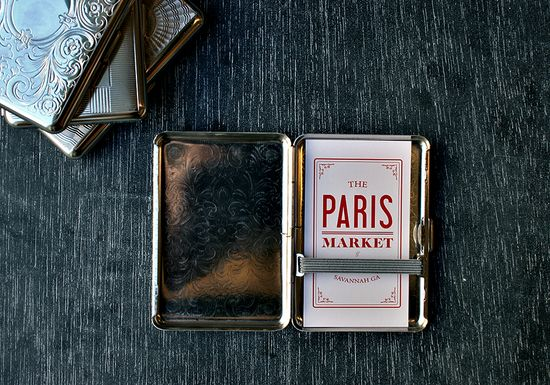 Handmade card cases.