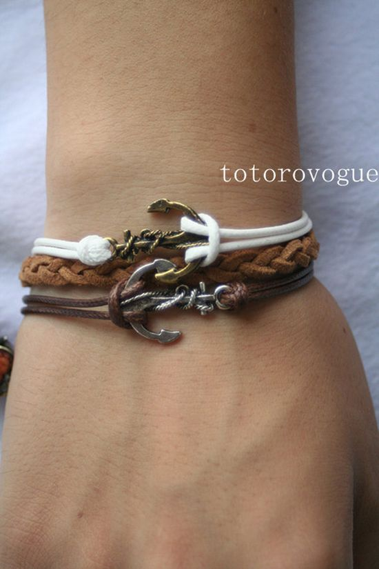 Double anchor bracelet by totorovogue, $6.99