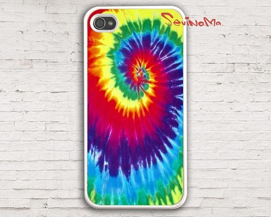 Tie-Dye iPhone 4 Case, iPhone 4s Case, iPhone 4 Hard Case, white iPhone Case