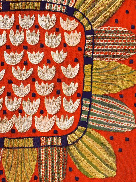 embroidery from 1954 Swedish sewing book, Hemslöjdens Hardarbeten