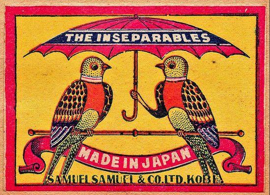 vintage matchbox from Japan