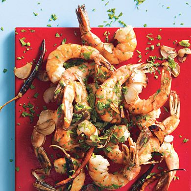 Chile-Garlic Shrimp from Epicurious.com #myplate #protein