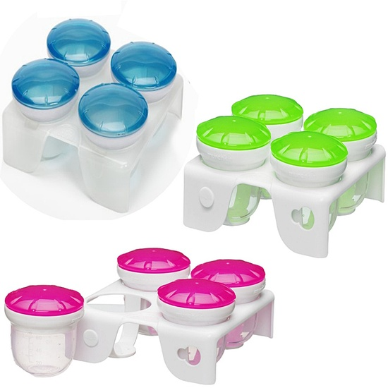 What a great idea! Serve, freeze, and microwave your #homemade baby #food in bright cups. Click above to buy a set.
