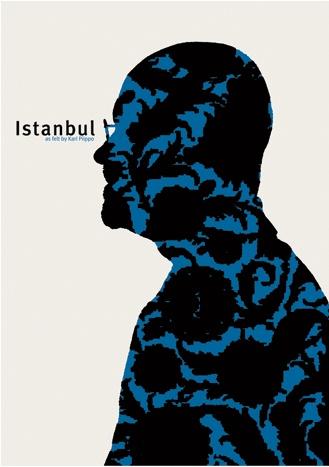 By Kari Piippo, 2006, Istanbul Anniversary poster.(born 1945, Finnish graphic designer)