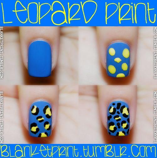 leopard print nails...