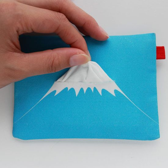 Mont Fuji tissue pouch. #JapaneseDesign