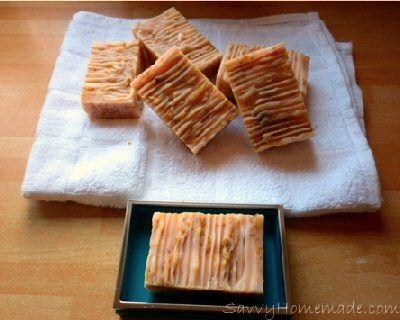 Floral Handmade Soap Recipe - SavvyHomemade.com