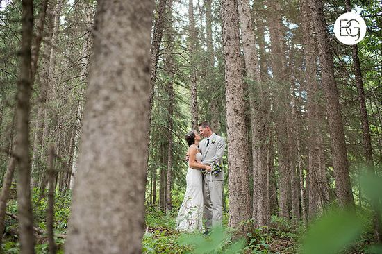 mountain wedding photo trees forest