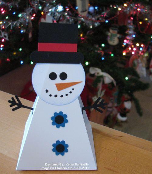 Snowman from petal cone die