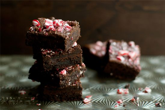 Dark Chocolate Candy Cane Brownies
