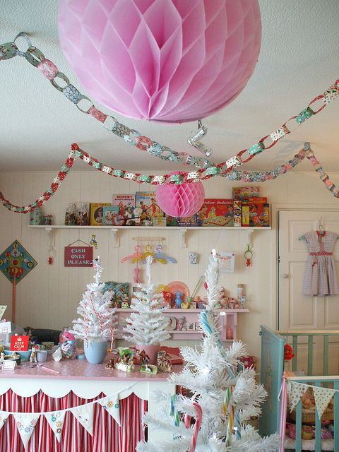 Christmas craft room...oooh never thought to put Christmas crafts IN the craft room....haha have made more space for MORE decor!