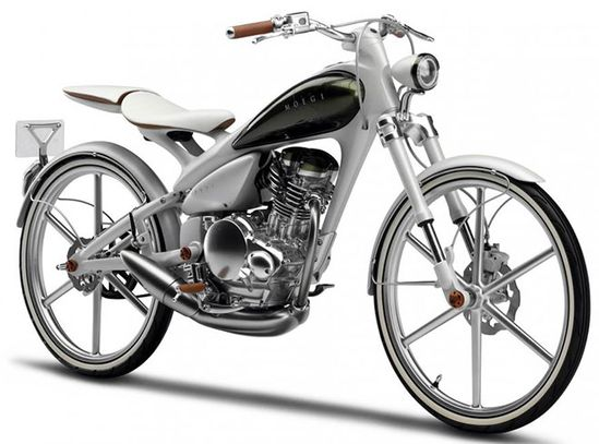 Yamaha bicycle with an engine