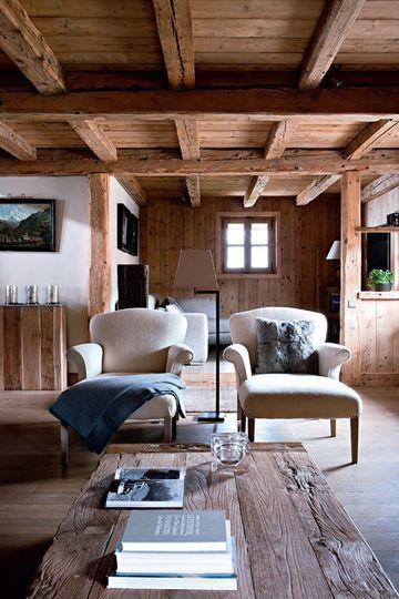 Rustic Elegance - Beautiful Living room in a Mountain Home.