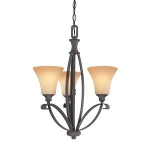 Thomas Lighting Magnolia 3-Light Painted Bronze Chandelier-M224363 at The Home Depot
