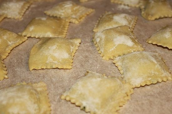 Handmade ravioli via mia