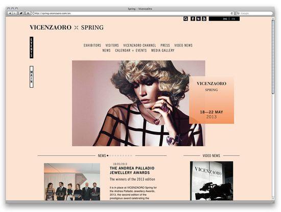 Eps51 graphic design studio: VicenzaOro Website