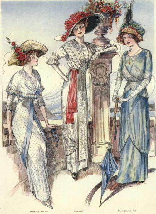1910s fashion...I love the draped layers.