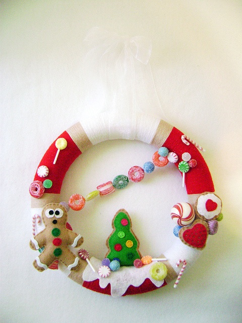 Candy Christmas Wreath - cute one to do with Ethan