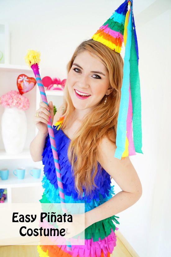 Easy homemade Piñata Halloween Costume