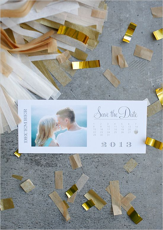 DIY 2013 Photo Save the Date Calendar Cards Free Download