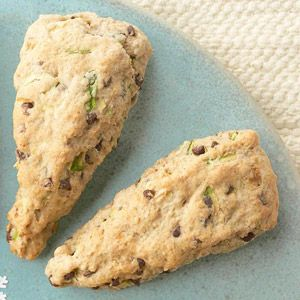 Zucchini-Chocolate Chip Scones