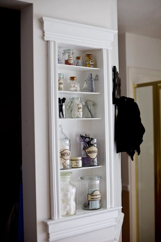 Amazing tutorial for how to DIY a built in shelf.  She makes it looks so easy.