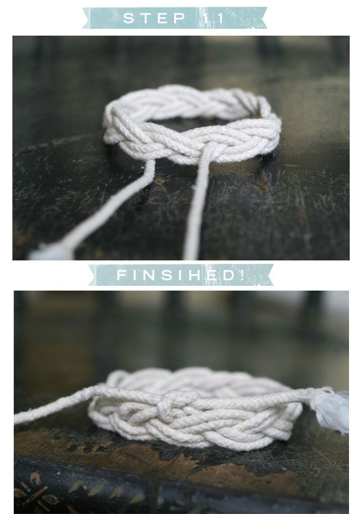 Sailor's knot bracelet.  Must make on of these.
