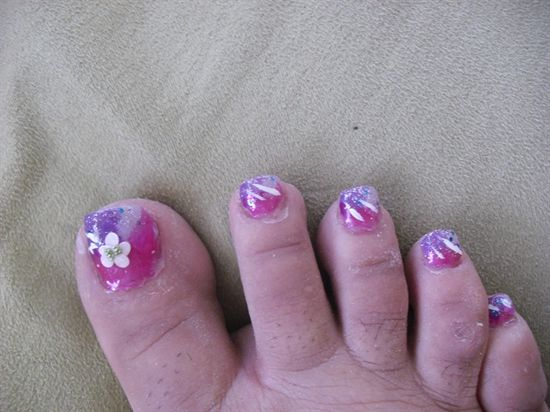 Fancy Pedicure - Nail Art Gallery by NAILS Magazine