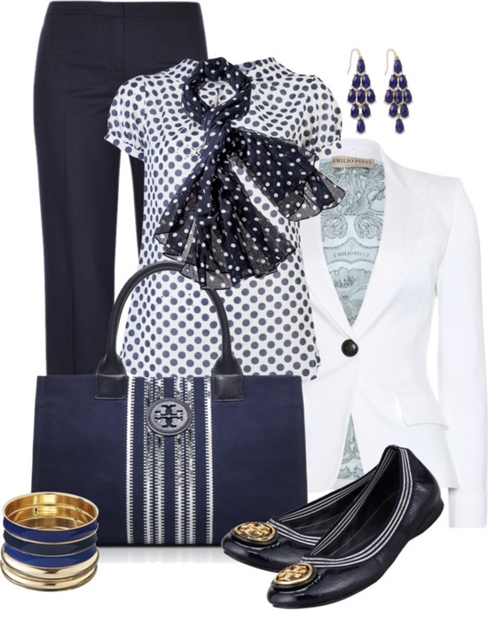 """Polka Dots and Stripes"" by averbeek ❤ liked on Polyvore"
