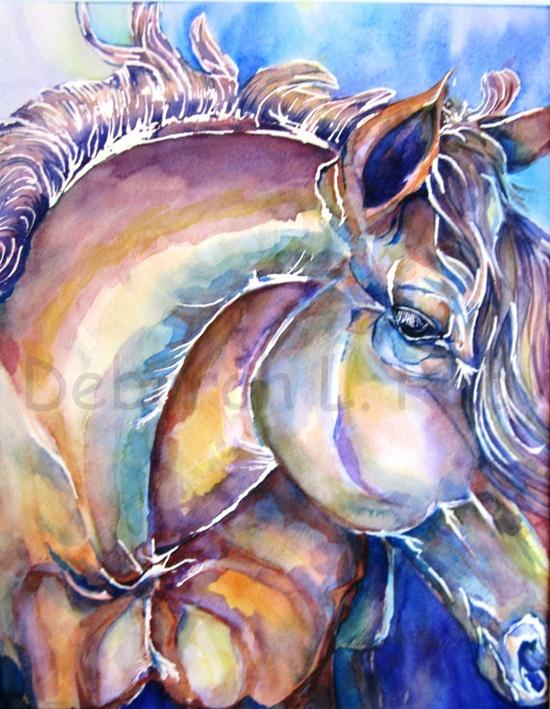 Art Painting Watercolor Original Deborah L Ruby by DLRubyspalette, $400.00