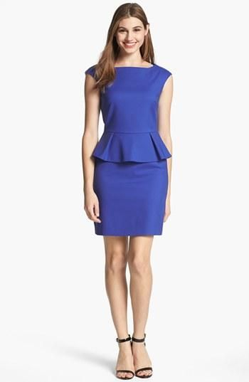 Bright French Connection peplum dress for work!