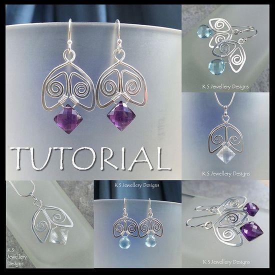 Spiral Bells - Wire Jewelry Tutorial by KSJewelleryDesigns, via Flickr