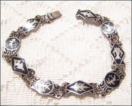Vintage Siam Sterling Bracelet by ViksVintageJewelry on Etsy, $45.00