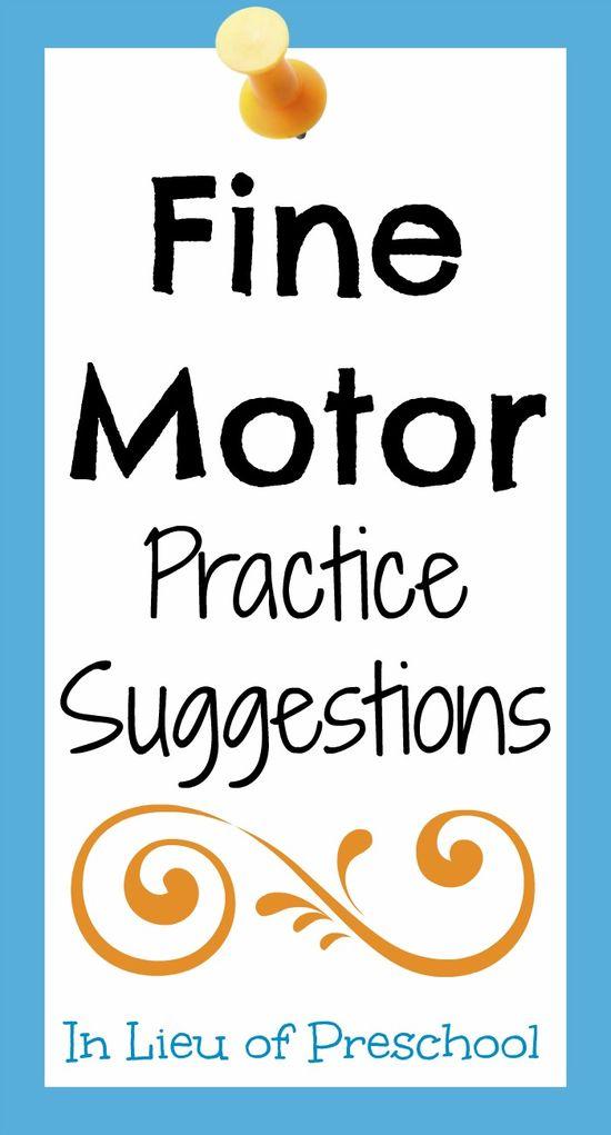 fine motor skills practice activities