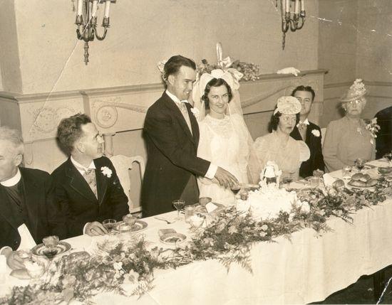 Wedding reception 1940s