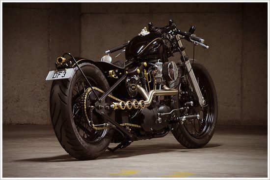 "Evolution's '72 Harley Ironhead Sporty - ""No.22"" - Pipeburn - Purveyors of Classic Motorcycles, Cafe Racers & Custom motorbikes"